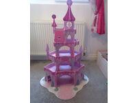 wooden pink princess castle