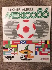 Panini World Cup Sticker Album - Mexico '86