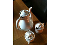 Tea pot ,sugar bowl and milk jug by company of friends 1979