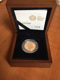 Royal Mint gold sovereign 2010 coin