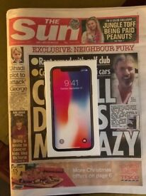 BRAND NEW SEALED IPHONE X 256GB SPACE GREY -07/12/17