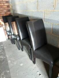 X 4 Dining chairs
