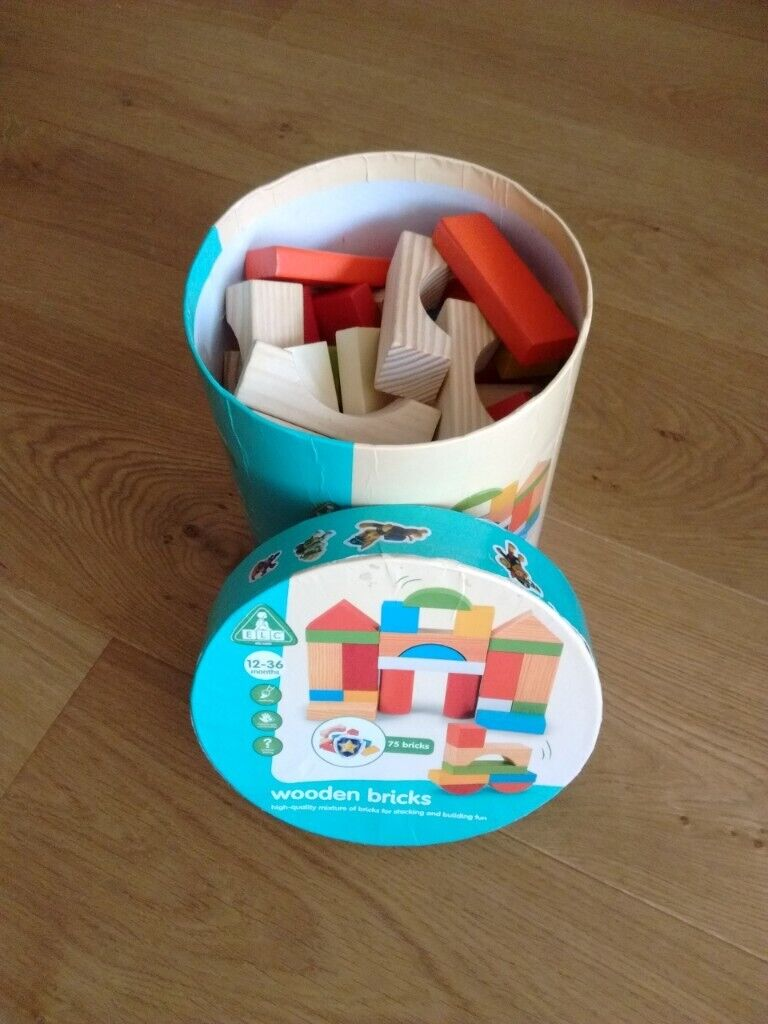 75 Wooden Bricks Set for babies/toddlers | in Oxford, Oxfordshire | Gumtree