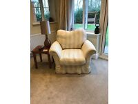 Tetrad loose cover -natural cream 4 seater,3 seater sofa , coordinating chair & footstool