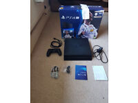 Ps4 pro with fifa 18 only 4 days old bargain