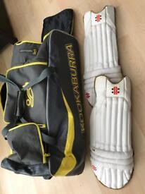 Kookaburra Cricket Bag & Pads