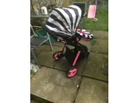Cosatto puschair. Newborn seat never used. Toddler seat used. All good condition . Paid £649
