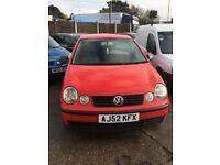 Volkswagen polo 1.2 petrol 3door hatchback bright red
