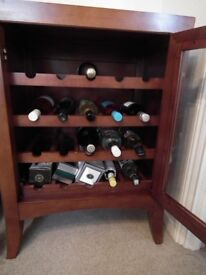 wine rack and computer table