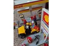 Playmobil Shell Garage with car and motorbike (1990's)