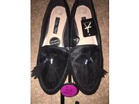 Black flat size 5 shoes brand new