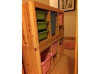 Ikea storage unit complete with storage bins