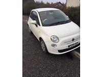 White Fiat 500