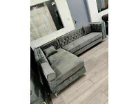 🔴PREMIUM QUALITY🔵New Florence sofa-plush velvet left/right hand corner sofa-in grey color⭐️