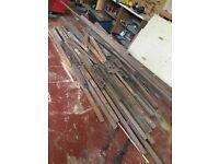 Reclaimed mahogany hardwood flooring
