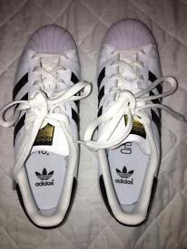 Brand new adidas superstars size 4.5 junior no box