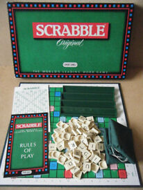 (Scrabble Original) word board game. By Spears Games 1988. Complete.