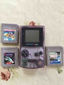 GAME BOY COLOR TRANSPARENT EDITION - WITH GAMES