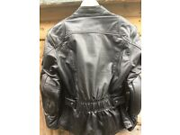 Ladies Hein Gericke Leather Motorcycle Jacket with matching trousers