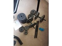 70kg weights plus bench