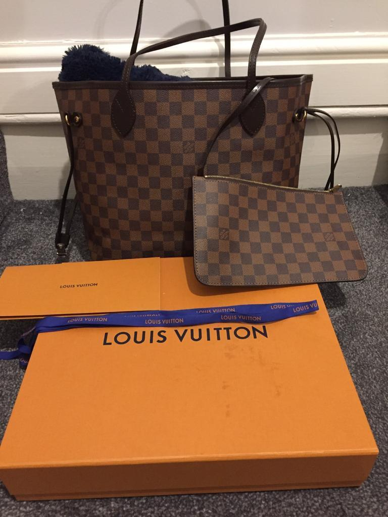 152e57ac3112 Louis Vuitton Neverfull MM Damier Ebene Canvas Bag