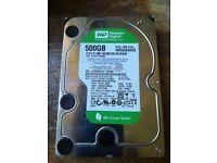 WD 500GB Sata Hard drive internal HDD