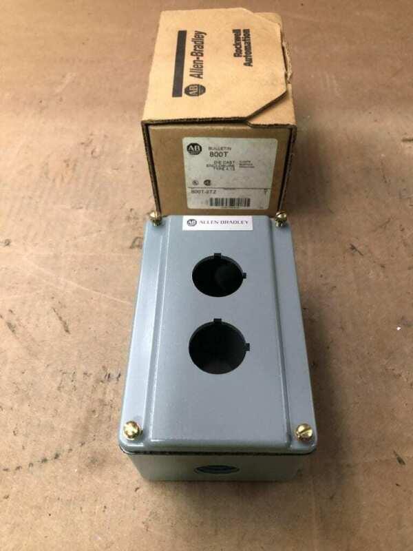 Allen-bradley 800t-2tz Series T 2 Hole Die Cast Pushbutton Switch Enclosure -nib