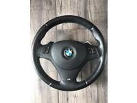 BNW 3 series E90 E91 m sport steering wheel with paddle shift&airbag