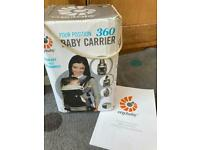 Ergo baby 360 carrier with infant insert from birth