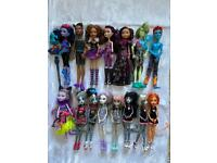 Monster ever after high dolls from £10 each