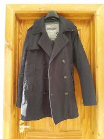 Super dry premium jacket in navy blue size medium