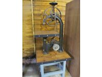 Vintage Band Saw Industrial Display Unit/Stand