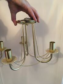3 identical gold ceiling lights