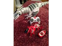 Remote control pet dog and dinosaur