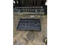 Rear Car Van Dog Pet Cat Foldable Cage Travel