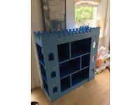 Lovely wooden Hand Painted Castle Bookcase