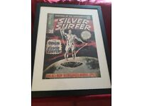SUPERB LARGE THE SILVER SURFER MOUNTED FRAMED POSTER PRINT