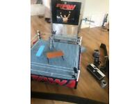 WWE ultimate scale ring and accessories