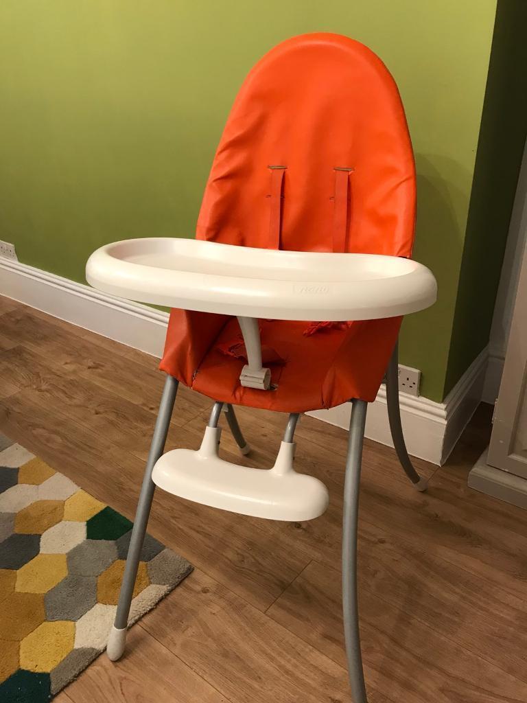 Urban Bloom Nano orange highchair