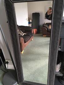 Full-length black mirror!
