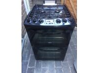 Zanussi 55cm wide gas cooker only 7 months old