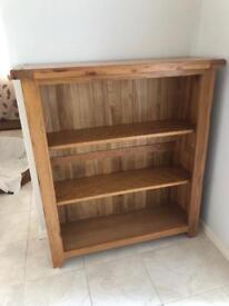 Solid oak bookcase - like new!