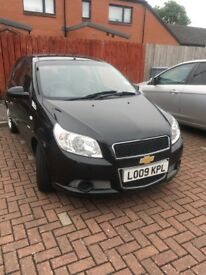 Black 09 plate chevrolet aveo low mileage