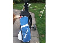Slazenger Junior Set with trolley hardly used also shoes as new size 7