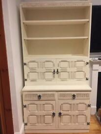 Shabby chic dresser with drinks cabinet.