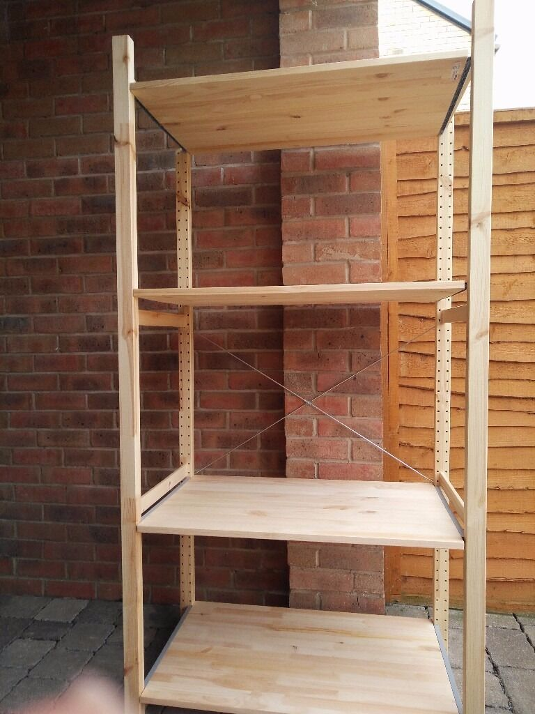 ikea ivar shelving unit including 4 shelves in swindon. Black Bedroom Furniture Sets. Home Design Ideas