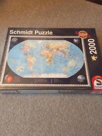 BNWT world map 2000 piece puzzle
