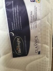 Mattress- silent night small double (4ft) immaculate condition