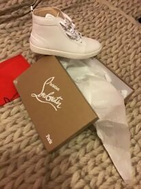 White Christian Louboutin Sneakers with oringal Dustbag and Box