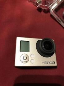GoPro Hero 3 Silver with viewfinder LCD screen and loads of extras.